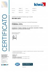 FONDALL - Certificato