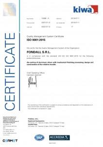 FONDALL - Certificato-Inglese
